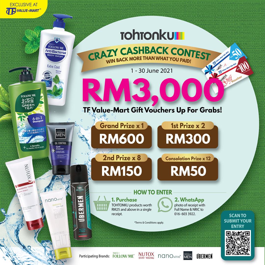 Tohtonku: Crazy Cashback Contest