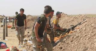 الحشد الشعبي  والقوات الامنية يقتلون ستة انتحاريين حاولوا التسلل الى بيجي في صلاح الدين