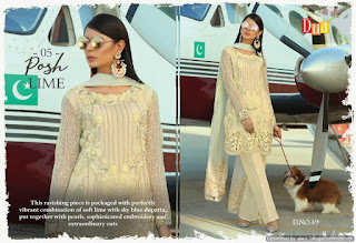 Dua vol 8 Galaxy Georgette pakistani Suits