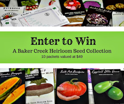 Win ten packets of Baker Creek Heirloom Seeds in our giveaway.