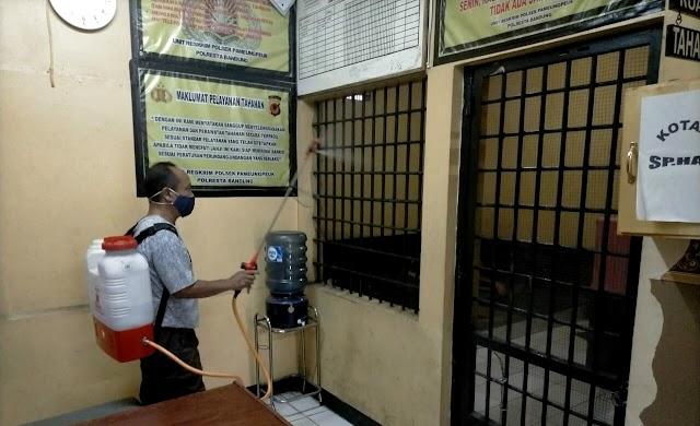 """AKP Ivan; """"Ruang Penjara Di Semprot Tiap Hari Cegah Covid Di Polsek Pameungpeuk Bandung"""""""