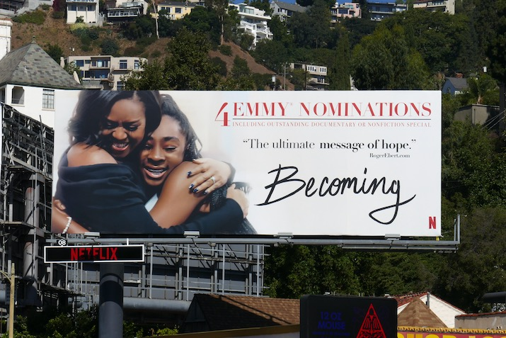 Michelle Obama Becoming 2020 Emmy nominee billboard