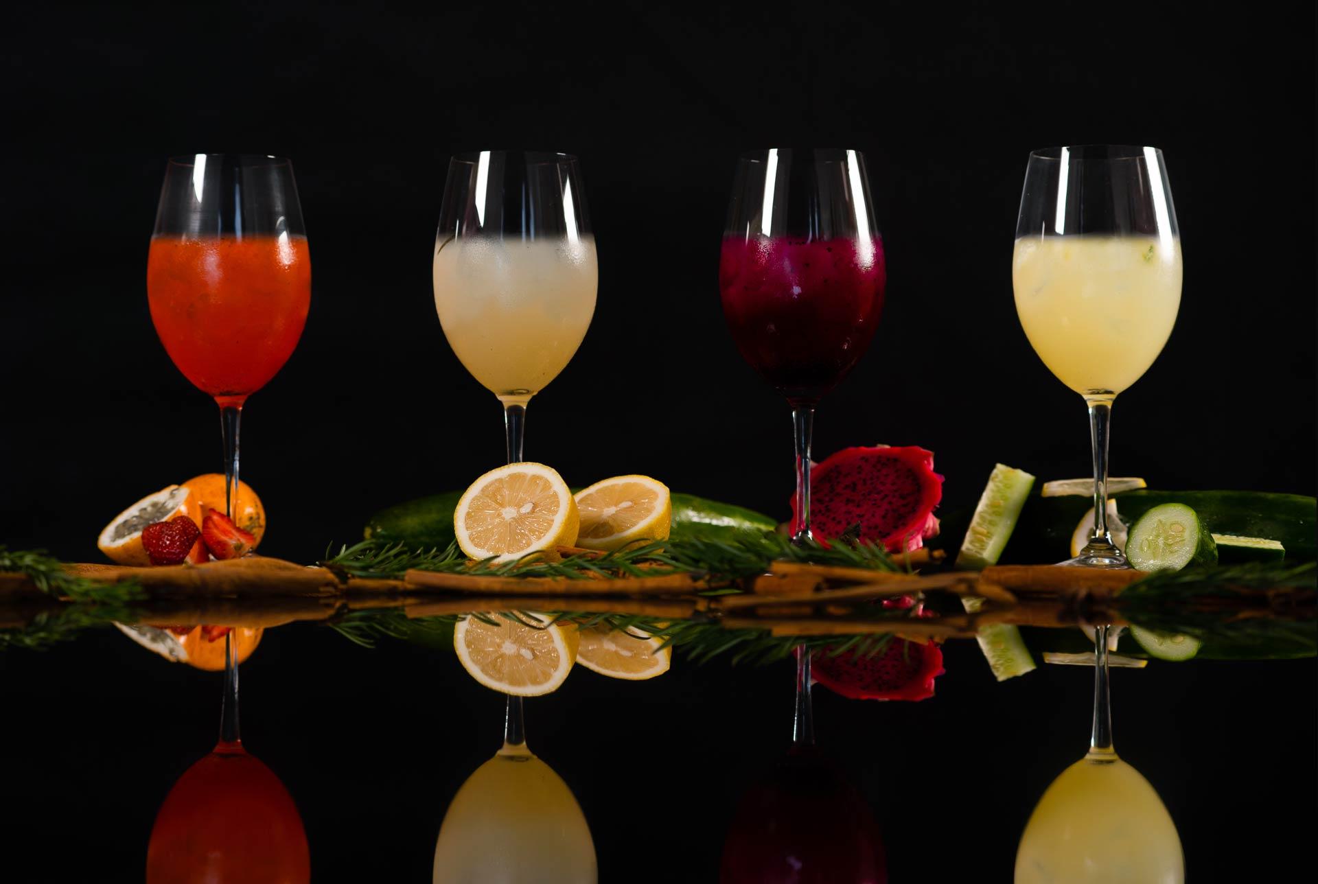 Lemon Squash Beverage Photography