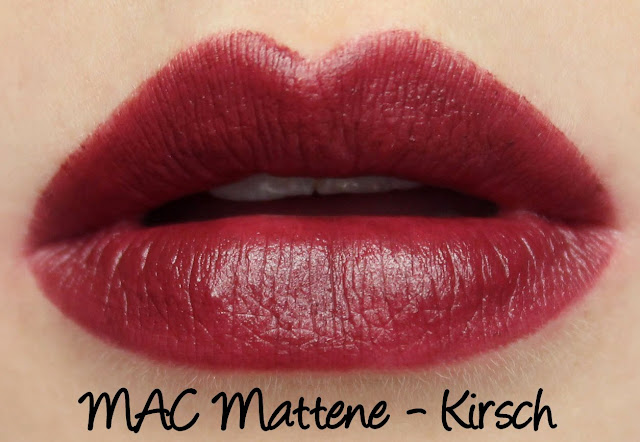 MAC Monday | Cult of Cherry - Kirsch Mattene Swatches & Review