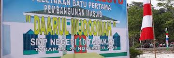 Peletakan Batu Pertama Pembangunan Masjid Daarul Muqoomah SMP Negeri 10 Tarakan