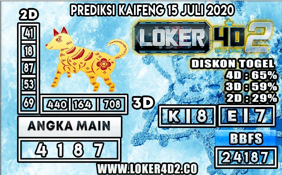 PREDIKSI TOGEL LOKER4D2 KAIFENG 15 JULI 2020