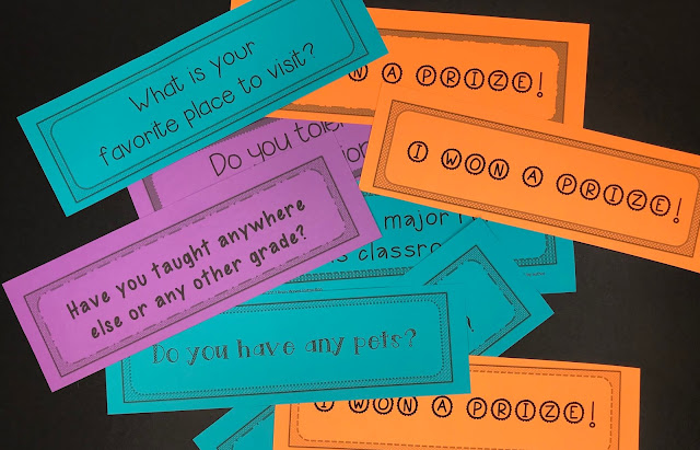 Great for any classroom, this back to school activity helps students learn about their teacher. Fun and engaging!