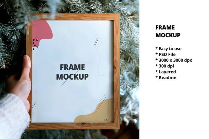 Free Download Photo Frame Psd Mockup