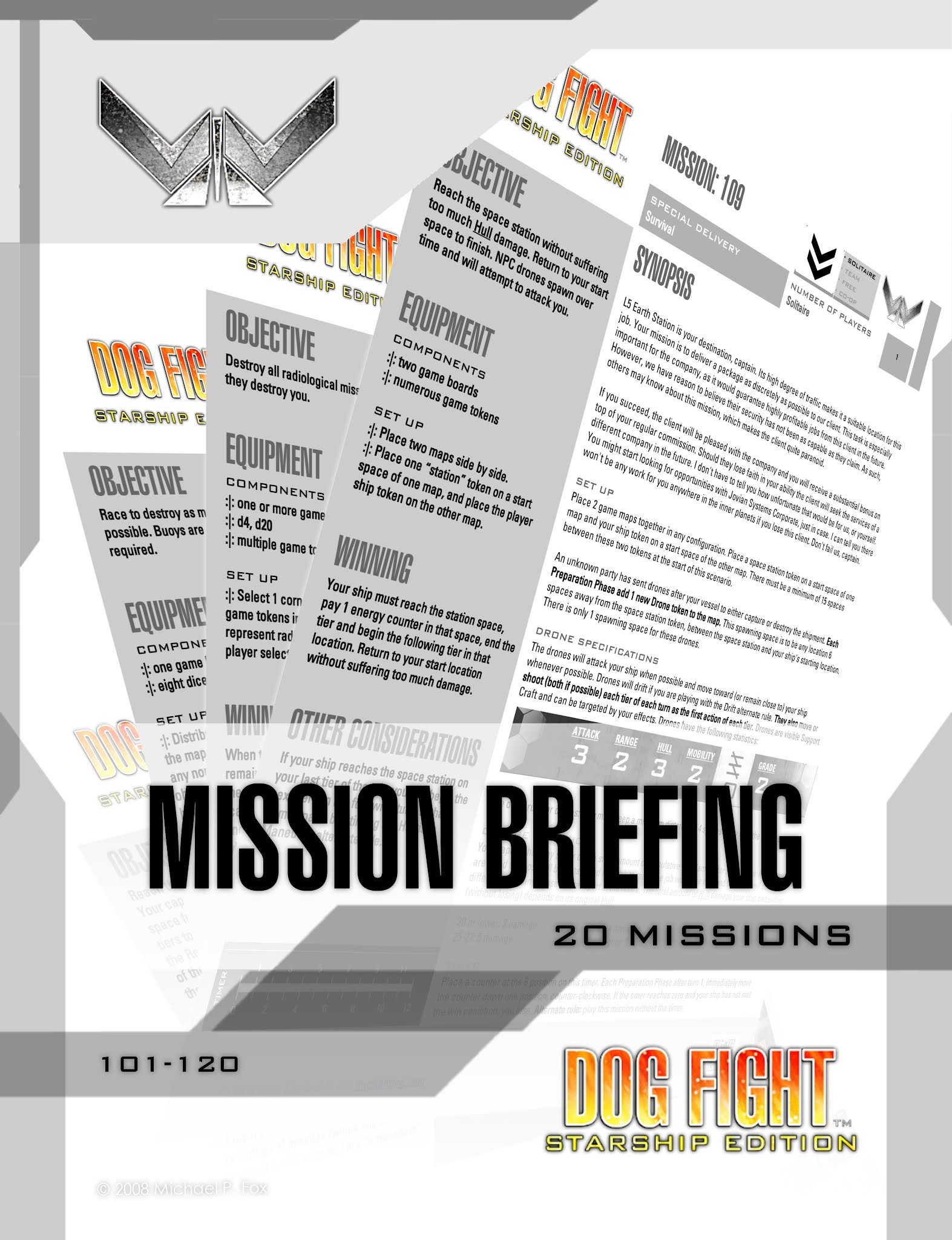 Dog Fight: Starship Edition Mission Briefing Book