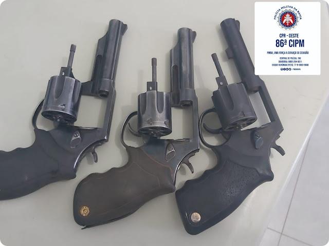 86ª CIPM apreende armas de fogo em Riachão das Neves após ameaças