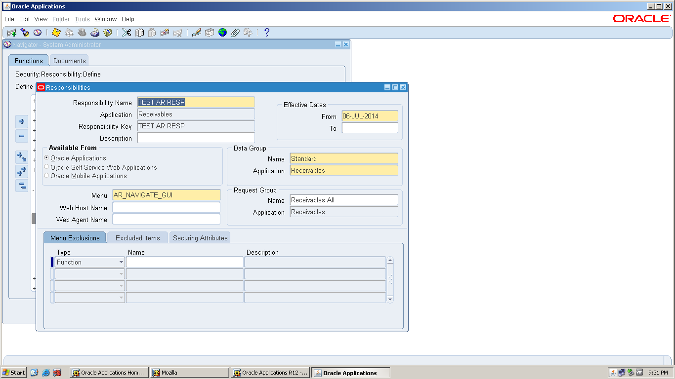 After Defining The Responsibility We Have To Attach The Following Profile  Options  Bill Receivables