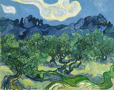 Ulivi con le Alpille sullo sfondo, Vincent Van Gogh