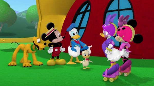 MINNIE: Oh, what a sweet duckling!