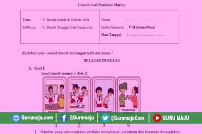 Soal UH / PH Kelas 5 Tema 9 Kurikulum 2013 Revisi Tahun 2019