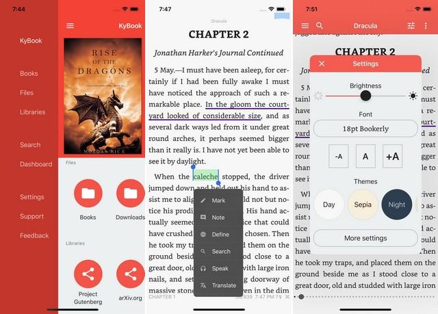 أفضل تطبيق لقراءة الكتب الإلكترونية للايفون