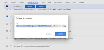 mengirim jawaban Google Question Hub