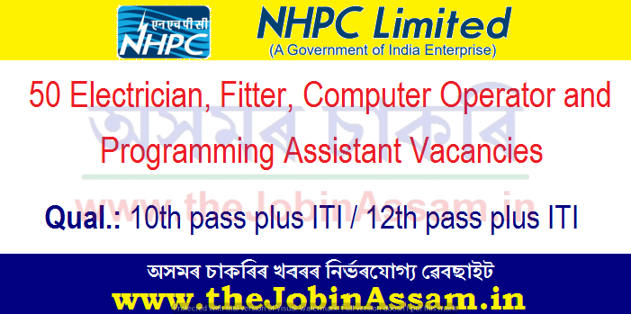 NHPC Recruitment 2021: Apply for 50 Electrician, Fitter & Computer Operator and Programming Assistant