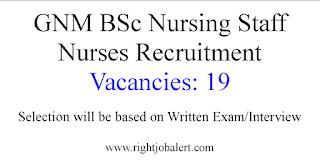 19 Staff Nurse Vacancies- Andhra Pradesh Vaidya Vidhana Parishad