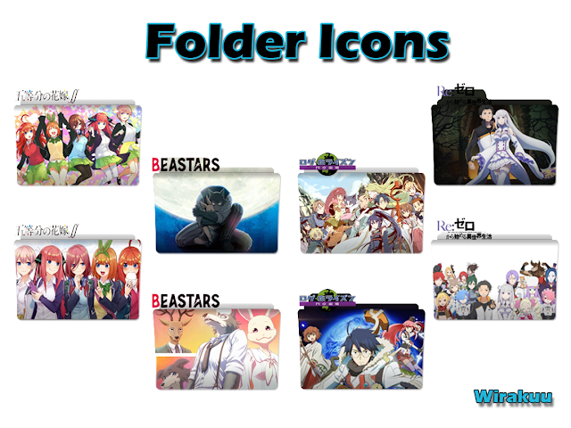 Folder Icon Anime Winter 2021 Pack 2
