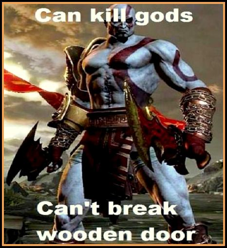 Funny God Of War Video Game Logic