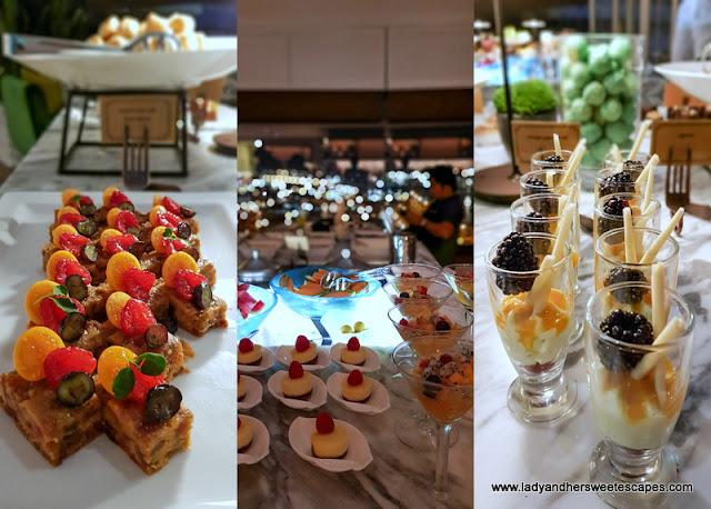 dessert selections at Al Dawaar Revolving Restaurant