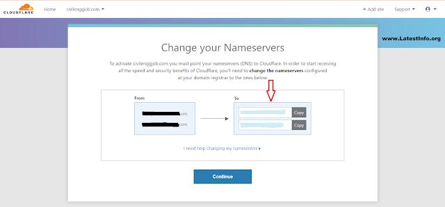 I need help changing my Nameservers