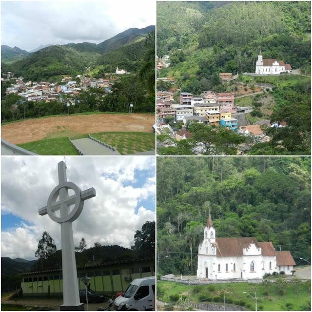 O que ver e fazer em Santa Leopoldina (ES) - monumento ao imigrante e vista da cidade