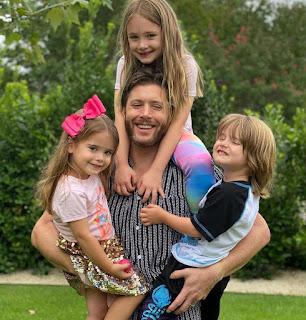 Joshua's brother Jensen carrying his 3 kids