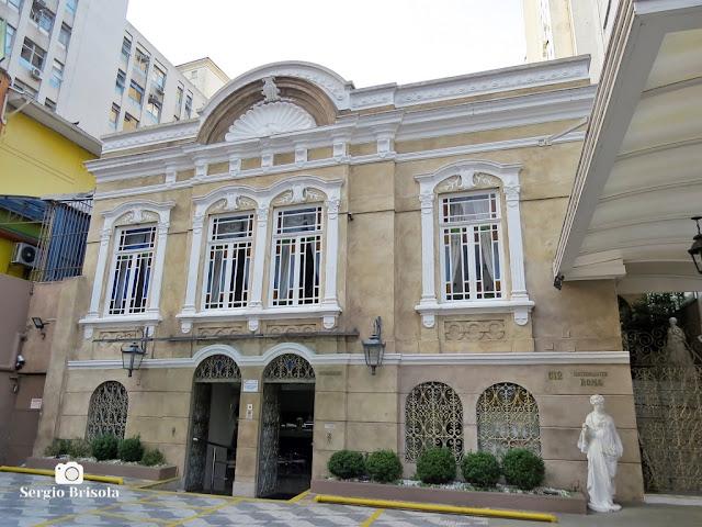 Vista de um Antigo Palacete na Rua Maranhão 512 (Roma Ristorante) - Higienópolis - São Paulo