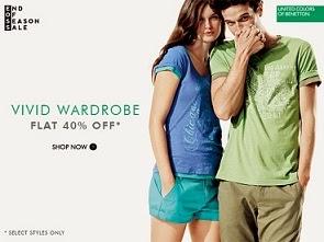 Flat 40% Off + Extra  25% or 30% Off on UCB Clothing / Footwear @ Myntra