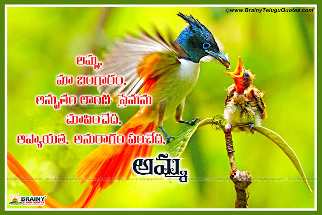 amma kavithalu in Telugu-mother love Quotes in Telugu, Telugu mother best loving quotes