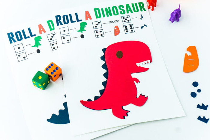 Roll A Dinosaur Game