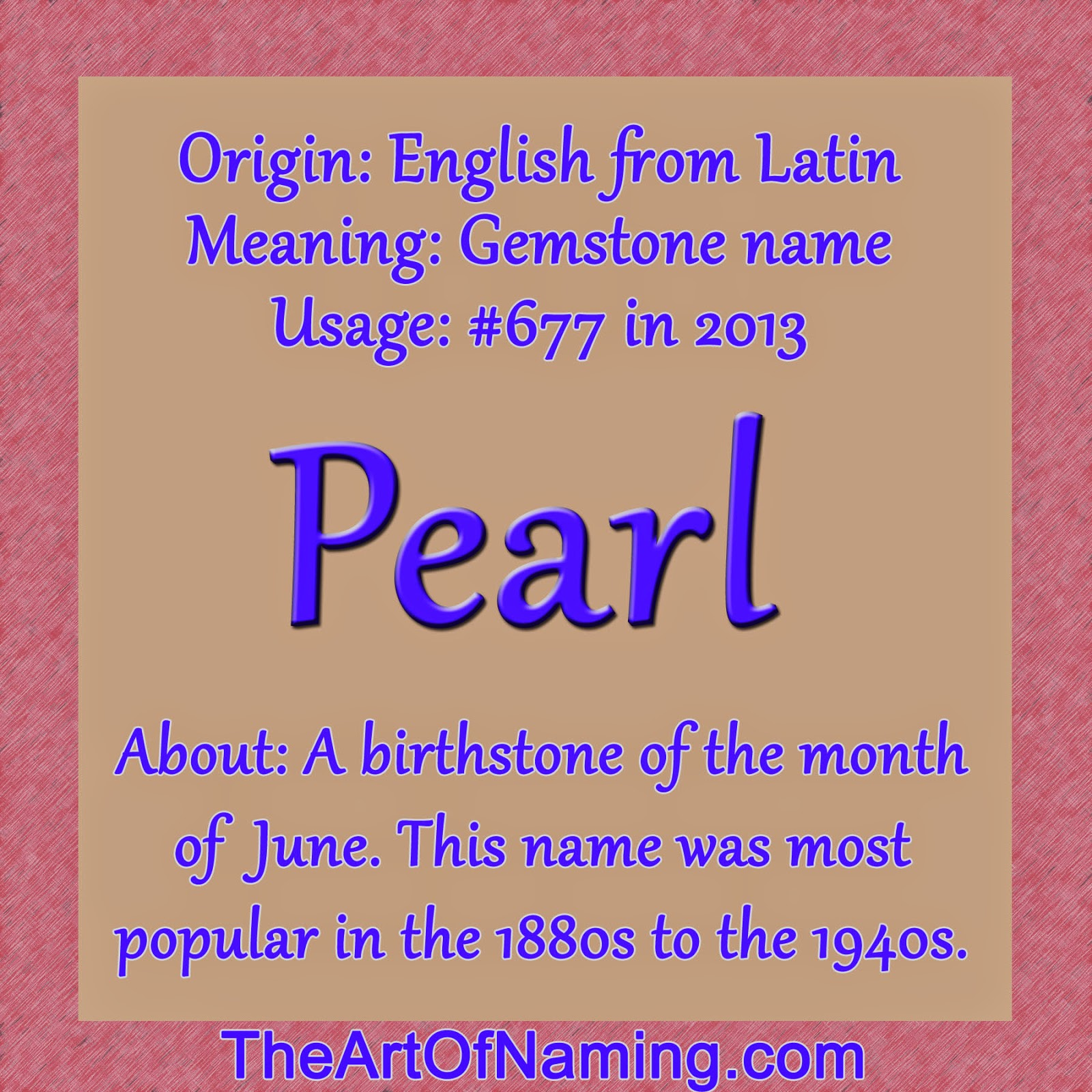 The Art of Naming: Pearl