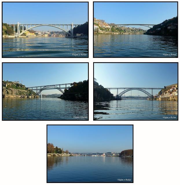 Puentes del Río Duero a su paso por Oporto