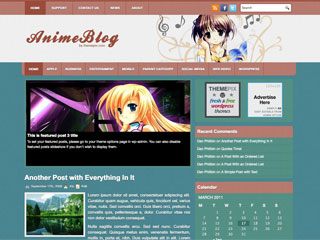 AnimeBlog Wordpress Themes