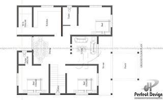 Denah Desain rumah minimalis sederhana
