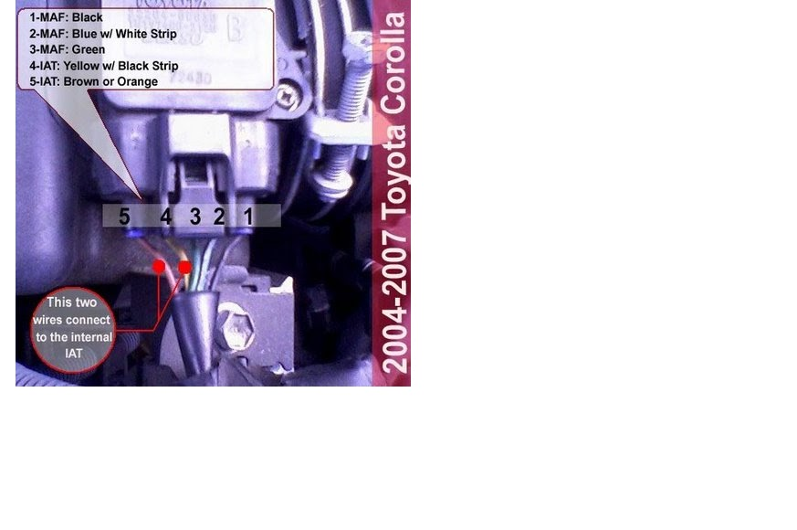 2002 Toyota Corolla Belt Diagram Mini Split Wiring Iat Sensor Performance Chip Installation Procedure 1992 Maf Location Pinout