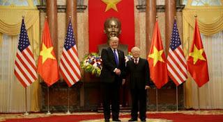 Trump meets Vietnamese President Nguyen Phu Trong before second North Korea summit US