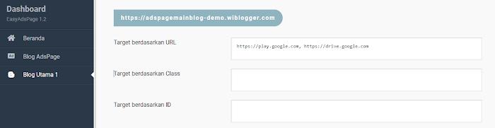 konfigurasi easyadspage