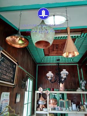 lampu gantung minimalis kerajinan tembaga dan kuningan