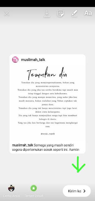 cara membuat postingan instagram orang lain jadi Story Anda