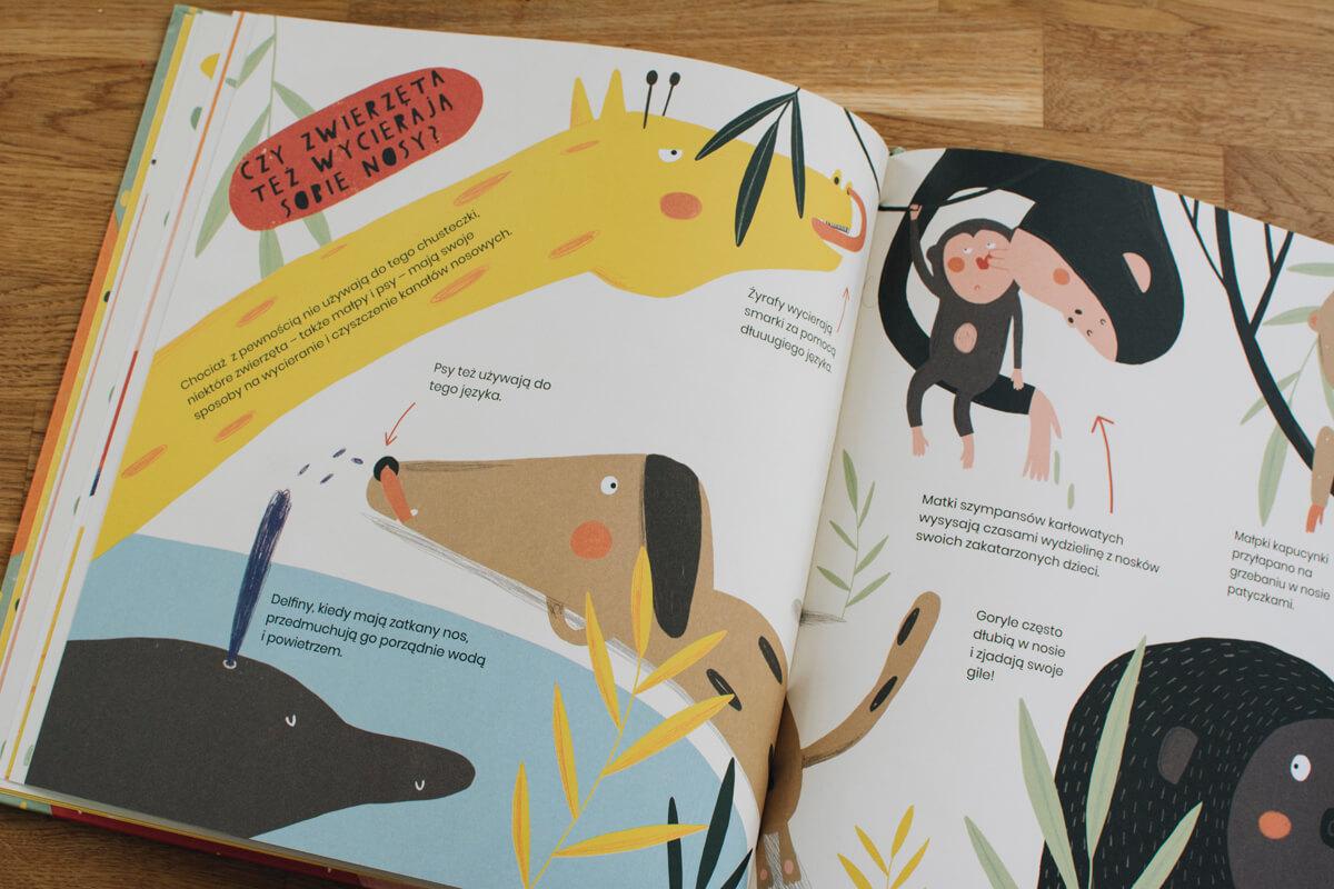 Zdjęcie wnętrza książki dla dzieci Smarki