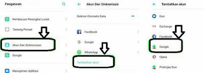 Menambahkan Akun Google di HP Android