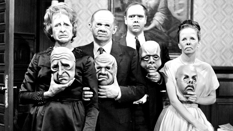 A Vintage Nerd, Vintage Blogger, Vintage Blog, The Twilight Zone, The Twilight Zone The Masks, Rod Serling, Sixties TV Shows, Retro Scifi, The Masks, Rod Serling TV, Scifi TV Shows, Twilight Zone Inspiration