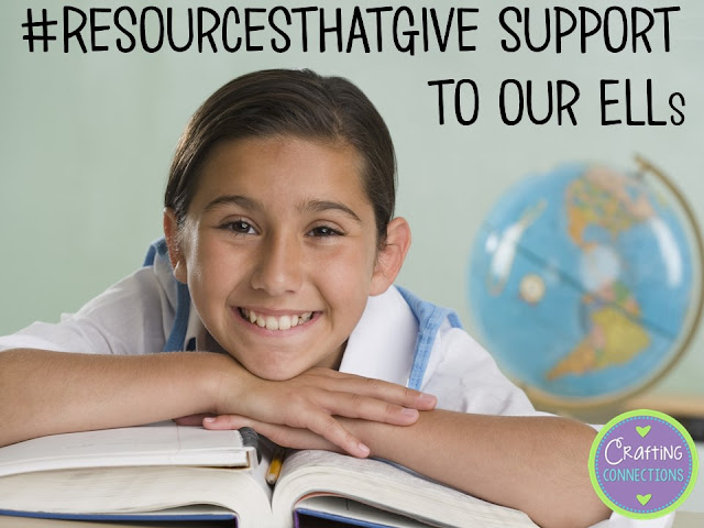 Resources that Support English Language Learners- This blog post describes 4 strategies that are known to work with ELLs. Plus, examples of each are provided. Links to freebies, too!