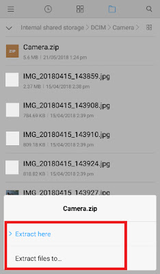 how to make zip file on android phone