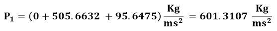 Calculo de la presión en el punto 1 del ejemplo 1