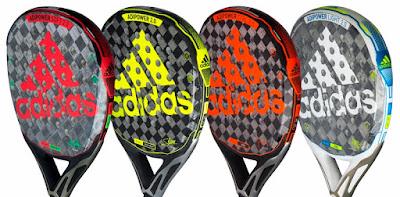 Las cuatro palas ADIPOWER ADIDAS PADEL utilizadas por jugadores del World Padel Tour: