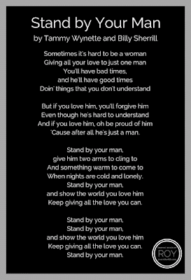 """Stand By Your Man"" lyrics by Tammy Wynette and Billy Sherrill"