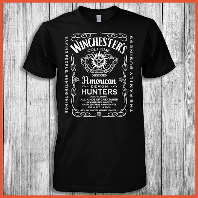 Winchester's Colt Time Dedicated American Demon Hunters T-Shirt